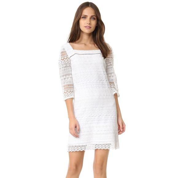 ef792d466f2b  390 White Shoshanna Clemente Crochet Lace Dress